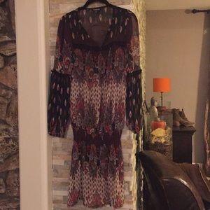 Bebe Boho Dress Size M